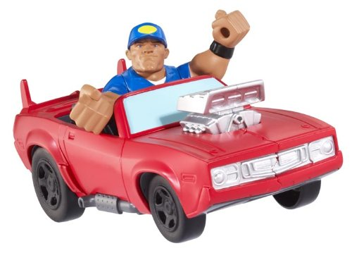 WWE Rumblers Slam City John Cena Launch ?N Crash Car Playset