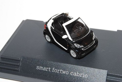 Smart ForTwo Cabrio Schwarz Facelift 2010 Ab 2007 A451 H0 1/87 Herpa Modell Auto