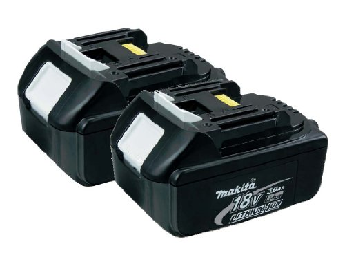Makita BL1830-2 18-Volt 3.0 AH Battery, 2-Pack (18 Volt Lithium Ion Battery compare prices)