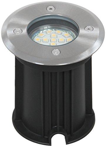 Ranex 5000.461 LED Bodeneinbaustrahler für Außen, rund, befahrbar, bis zu 800 kg belastbar, einbau Durchmesser 9,2 cm