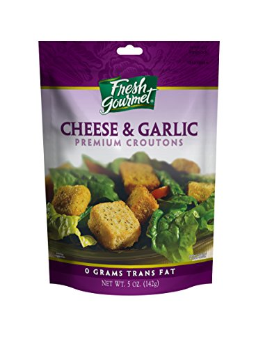 Fresh Gourmet Premium Croutons, Cheese and Garlic, 5-Ounce (Pack of 6) (Cheese Garlic compare prices)