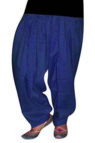 Bansal Collection Women's Patialas (Navy_Free Size)