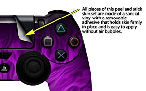 Fire Purple - Decal Style Wrap Skin fits Sony PS4 Dualshock Controller (CONTROLLER NOT INCLUDED)