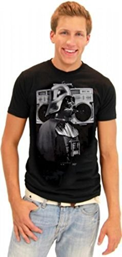 Star Wars Darth Vader Boombox Retro Adult Black T-Shirt (Adult Xx-Large)