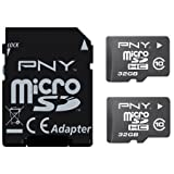 PNY Android MicroSD Card 32 GB Twin Pack 2x Class