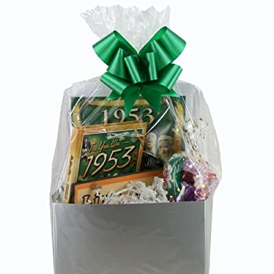 check the current price and customer reviews on 60th Birthday Gift Basket - Live Your Life - with 1953 Retro DVD and Mini-bookFrom Jubilee Celebrations by Wellhaven at Amazon website.
