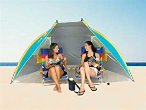 Portable Sun Shelter beach Tent Cabana SPF 50 w/ carry bag Colors vary