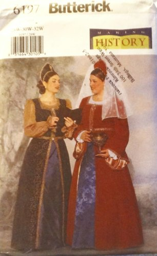 OOP Butterick Making History Pattern 6197. Womens Plus Szs 28W; 30W; 32W Historical Costume