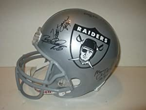 Oakland Los Angeles Raiders Legends Autographed Throwback Retro Logo Riddell Full...