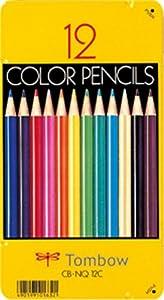 トンボ鉛筆 缶入色鉛筆12色 CB-NQ12C