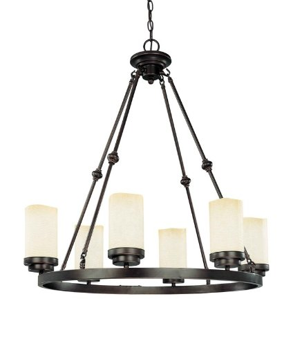 B0020RZXTO Nuvo 60/2763 Lucern Large Oval 6-Light Chandelier