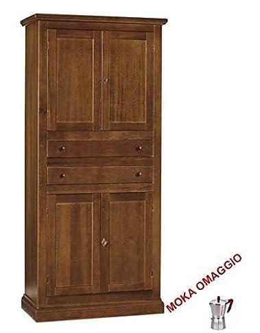 CLASSICO armadietto bagno 4 ante 2 cassetti per bagno soggiorno salotto 394 80x40x170