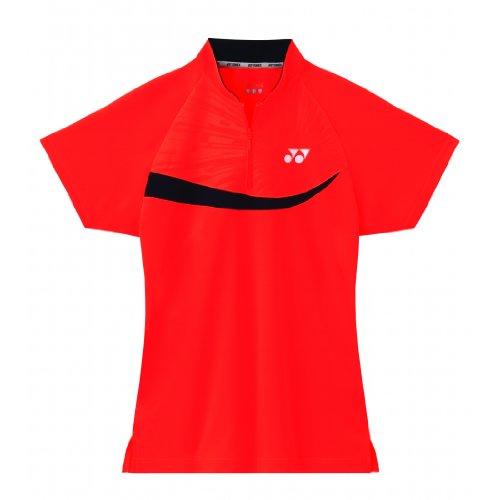 YONEX Polo da Badminton Donna, Arancione, XL