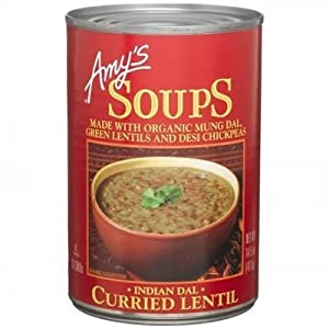 Amy's Kitchen Indian Dal Curried Lentil Organic Soup (Pack of 6)