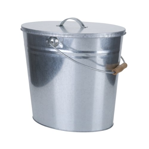 Kamino-Flam-Kohleeimer-333259-fr-den-Innen-und-Auenbereich-verzinkter-Ascheeimer-mit-einem-Volumen-von-ca-24-Litern-mit-Tragebgel-und-Holzgriff-fr-Holz-Pellet-und-Holzkohlefen-stabiler-Metalleimer-mit