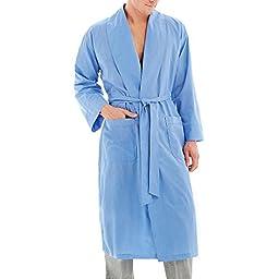 Hanes Classics Big Mens Light Weight Shawl Collar Robe (Blue 3/4X)