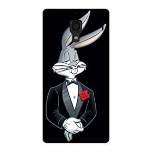 Delighted Smart Bunny Black Red Back Case Cover for Redmi 1S