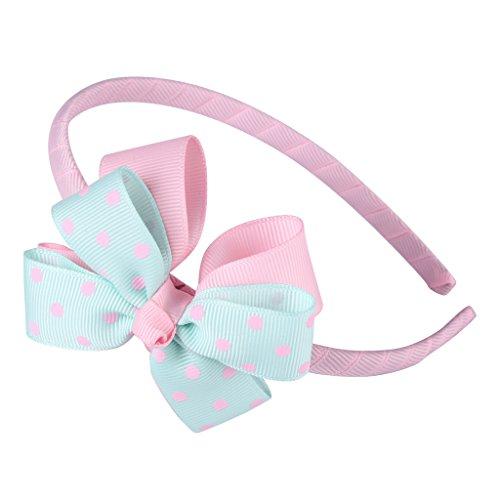 サクララ (Sakulala)エレガント カチューシャ リボン こども 女の子 キッズ ヘアアクセサリー かわいい ネイビー 髪飾り ヘアバンド