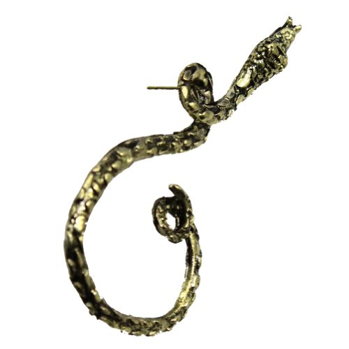 Zehui Antique Gothic Punk King Curve Snake Fatal Attraction Ear Cuff Clip Earring