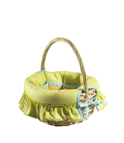 Sauthon on Line, estino portaoggetti in vimini per gli accessori del neonato