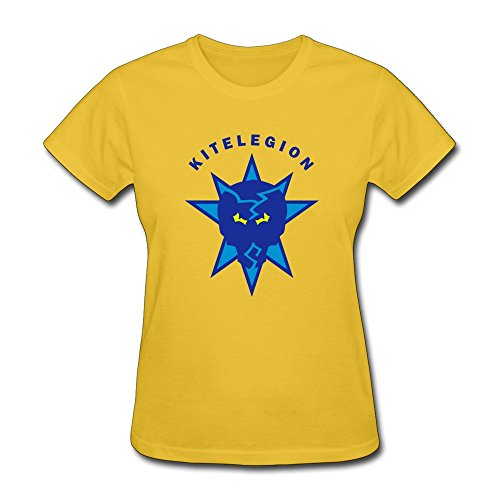 100% Cotton Sports Skull Star Tee Shirts For Lady - Round Neck front-476524