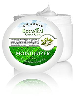 Cheapest Facial Moisturizer. Organic & 100% Natural Face Moisturizing Cream for Sensitive, Oily or Dry Skin - Anti-Aging and Anti-Wrinkle, for Women and Men. from Botanical Green Care LLC - Free Shipping Available