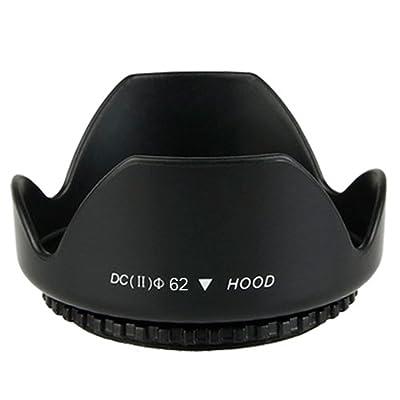 62MM Professional Tulip Flower Lens Hood + 62MM Universal Snap-On Lens Cap + Premium JB Digital Microfiber Cleaning Cloth For Tamron AF 70-300mm f/4.0-5.6 Di LD, AF 18-200mm f/3.5-6.3 XR Di II LD Aspherical (IF), AF 18-270mm f/3.5-6.3 VC PZD Lenses