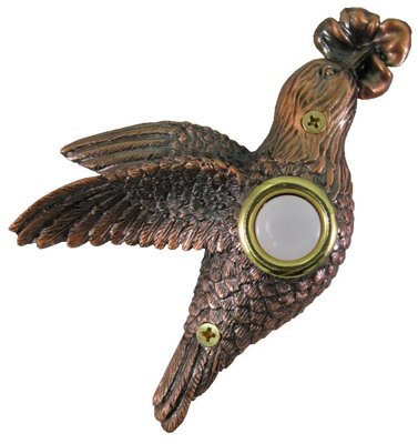 Company's Coming DBZ019 Lighted Door Chime Button, Bronze Plated Hummingbird, 3-1/8-In. x 4-3/8-In.