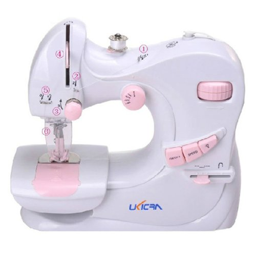 Fuloon Ukicra UFR-601 Sew Multi-Purpose Mini Sewing Machine With Pedal Power Accessories Support DC/AC 110-240V And Battery NEW