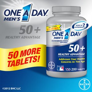 One A Day® Men'S 50+ Healthy Advantage 200 Tablets Multivitamin/Multimineral Supplement