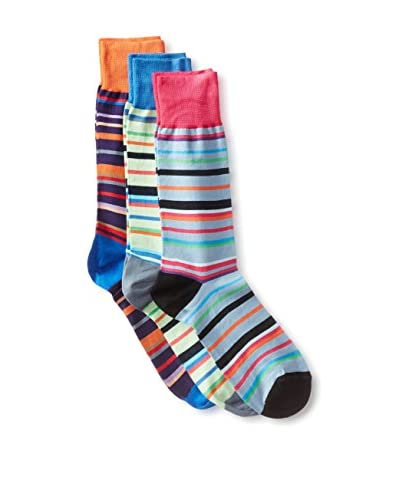 Jared Lang Men's Assorted Crew Sock Combo - 3-Pack, Multi Color, One Size