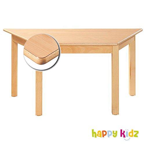 """""""KIDZ PREMIUM"""" Formica Tisch 120 x 60 cm (trapezförmig) buche 36 cm"""