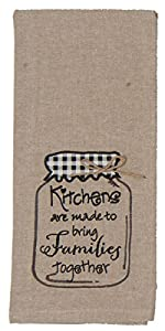 Kay Dee Designs F0742 Kitchens & Families Mason Jar Embroidered Tea Towel