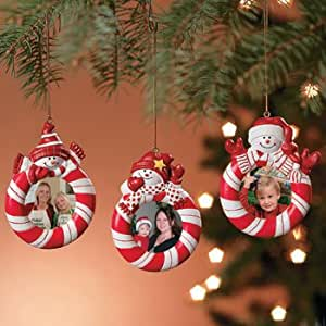 Buy set of 3 peppermint candy red white striped snowman - Buy christmas decorations online india ...