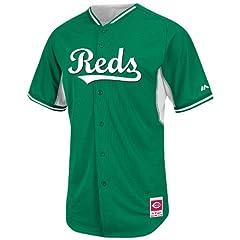 Cincinnati Reds Kelly Green BP Cool Base Jersey by Majestic by Majestic