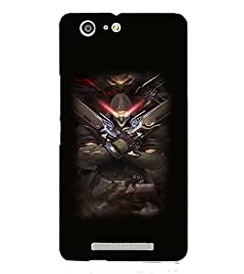 PRINTVISA Abstract Warrior Case Cover for Gionee Marathon M5