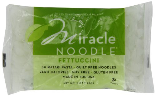 Miracle Noodle Shirataki Fettuccini, 7-Ounce Packages (Pack of 6)