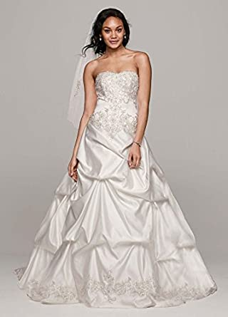 Strapless Sweetheart Pick Up Ball Gown Wedding Dress Style WG3239 Ivory 8 At Amazon Womens
