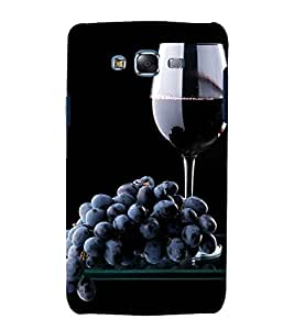 Grapes and Wine 3D Hard Polycarbonate Designer Back Case Cover for Samsung Galaxy J7 J700F (2015 OLD MODEL) :: Samsung Galaxy J7 Duos :: Samsung Galaxy J7 J700M J700H