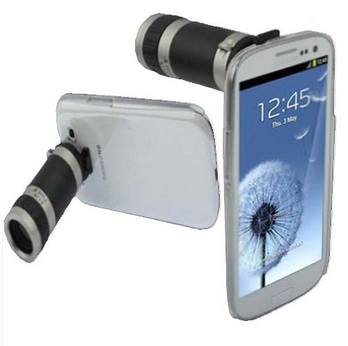 Mobile Phone Telescope Camera 8X Zoom Lens Case Cover For Samsung Galaxy S3 I9300