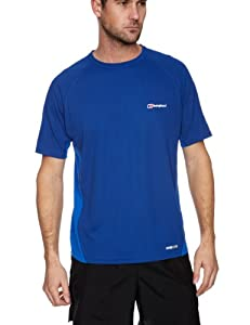 Berghaus Relaxed Short Sleeve Men's Baselayer - Limoges/Extrem Blue, Small (Old Version)