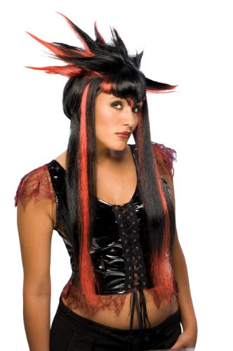 Rubie's Costume Spiker Vamp Wig, Black/Red, One Size