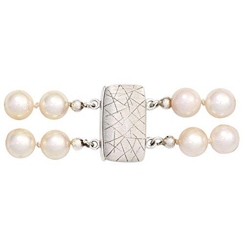 Verschluss Magnet-Schließe 925 Silber Silberschließe eismatt Damen jetzt kaufen