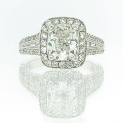 3.57ct Cushion Cut Diamond Engagement Anniversary Ring