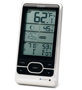 Oregon Scientific BAR208HGA Advanced Weather Station with Atomic Time (One small white sensor included) by Oregon Scientific