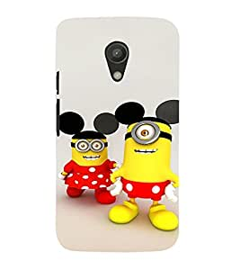 EPICCASE Minion with Mickey Ears Mobile Back Case Cover For Moto G 2nd Gen (Designer Case)