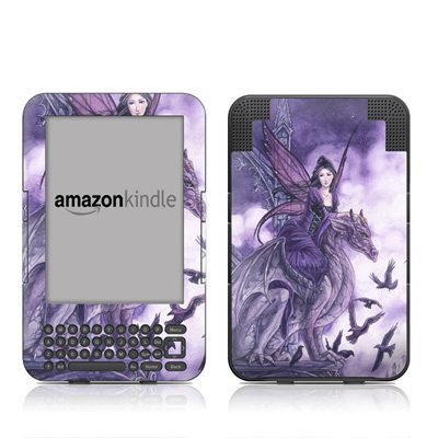 Dragon Sentinel Design Protective Decal Skin Sticker for Amazon Kindle 3 (Latest Generation, 6 inch) E-Book Reader - High Gloss Coating