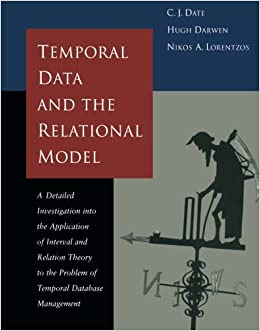 couverture du livre Temporal data and the relational model