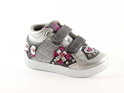 LELLI KELLY LK6929 argento scarpe bambina mid strass calzata rapida