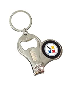 pittsburgh steelers 3 in 1 keychain bottle opener nail clipper sports related. Black Bedroom Furniture Sets. Home Design Ideas